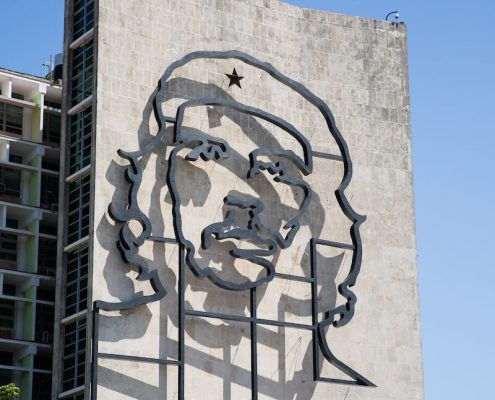 """Mural"" of Che Guevara on Ministry of Interior building in Plaza de la Revolución (Revolution Square)"