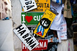 "Cuban license plate with Image of Ernesto ""Che"" Guevara"